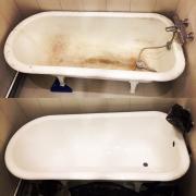 Реставрация ванны жидким акрилом Шахтёрск