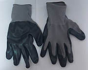 Перчатки нейлоновые с нитриловым покрытием, маслобензостойкие. Макеевка ДНР